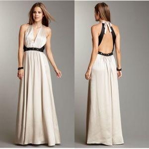 NWT BCBCMaxAzria Silk Beaded Charmeuse Gown